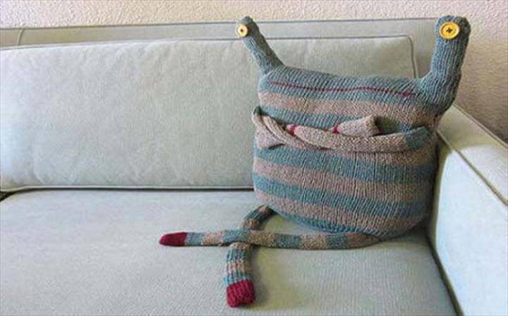 diy pillow, pillow design, craft ideas, funny diy pillow, sweater pillow