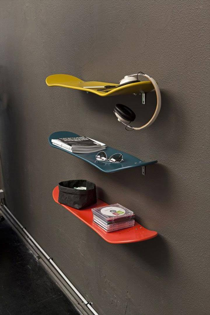 teen skateboard ideas, diy teen skateboard for teen boys, diy creative ideas for room