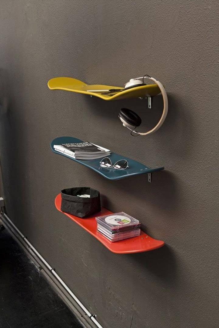 teen skateboard ideas, diy teen skateboard for teen boys, diy creative ideas for room