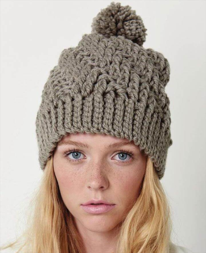 winter crochet cap, winter hat idea, diy winter idea of cap with crochet