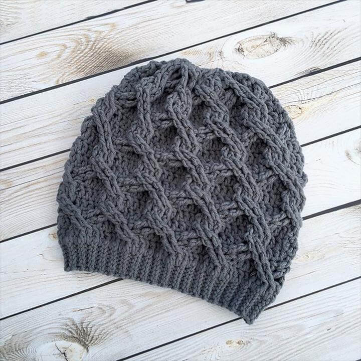 simple crochet pattern idea, diy pattern crochet cap, free crochet pattern cap