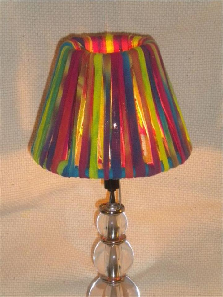 colorful lamp, diy colorful lamp ideas, cute lamp decor