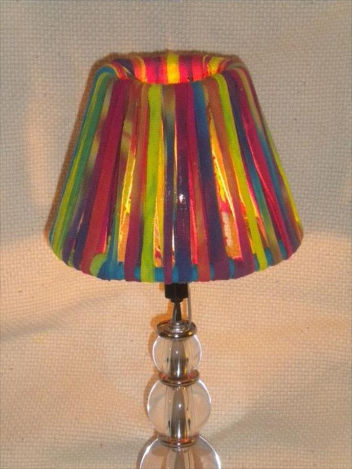 colorful lamp, diy colorful lamp ideas, cute lamp decor