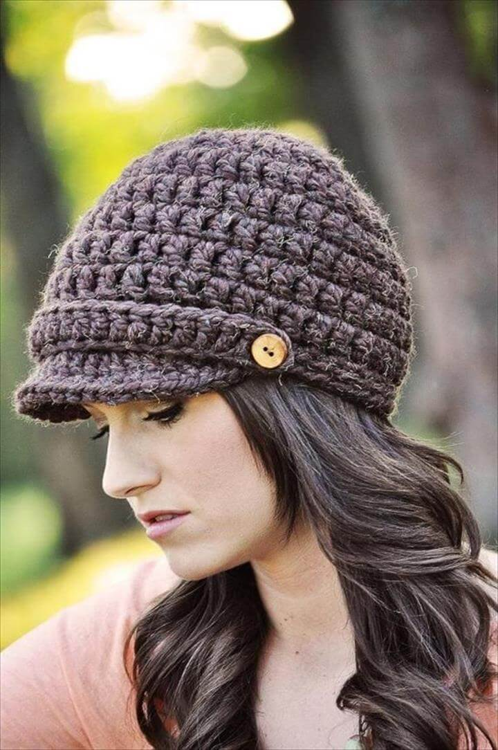 easy crochet hat, pattern crochet hat, diy crochet hat