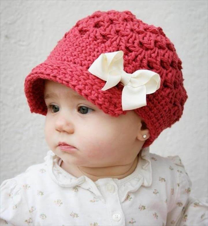 baby crochet idea, diy baby crochet hat idea, diy crochet hat for baby