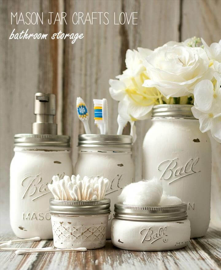 diy mason jar, diy white mason jars, diy projects