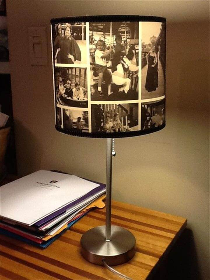 slide show lamp, diy lamp ideas, diy lamp with photos