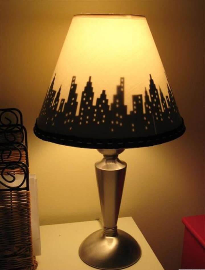 Simple lamp ideas, lamp shade idea, awesome lamp crafts