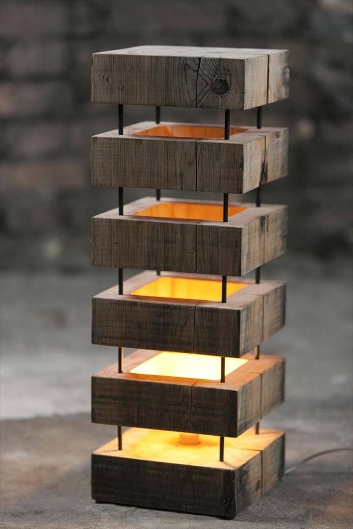 awesome lamp, diy craft, diy wooden pallet lamp