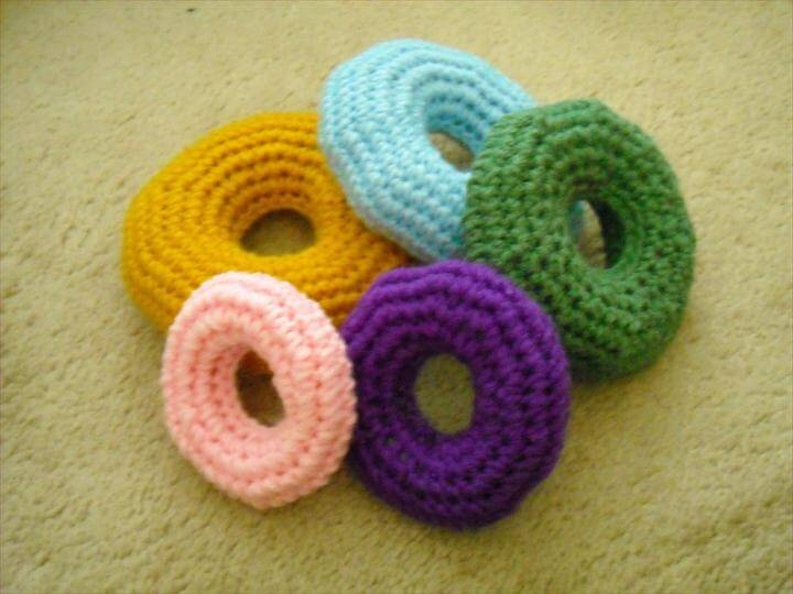 Crochet Baby Ring Stacking Toy