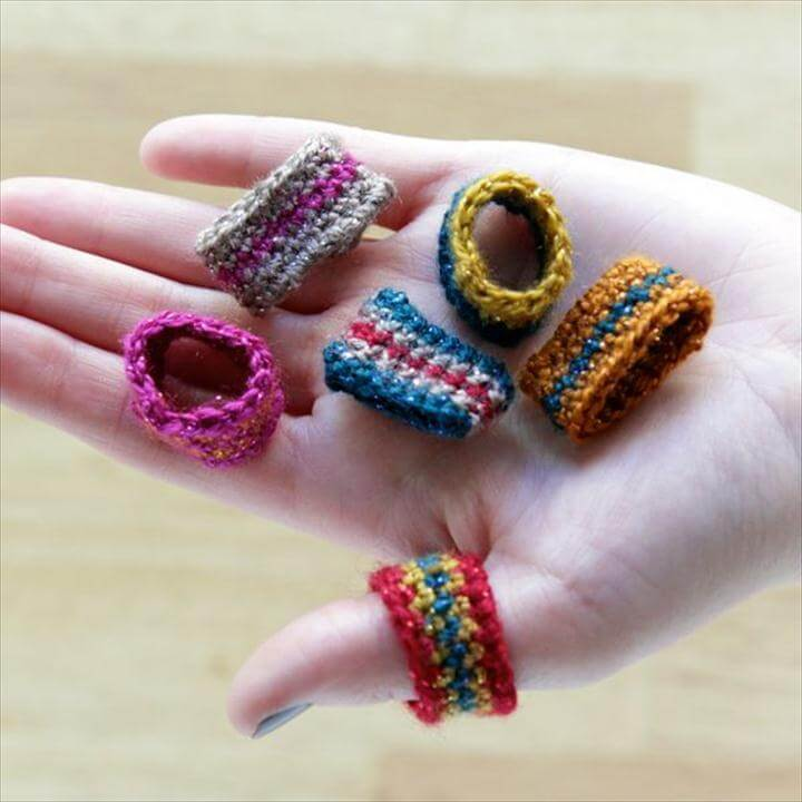Crocheted rings