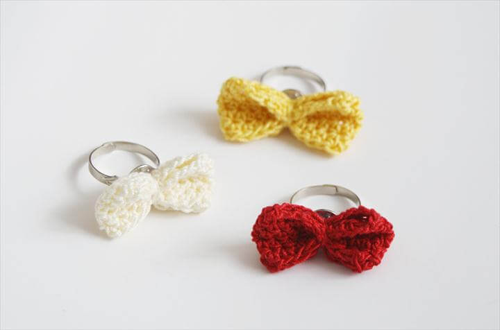 crochet bow rings