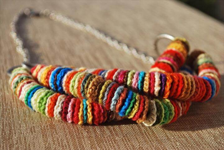 crochet summer necklace