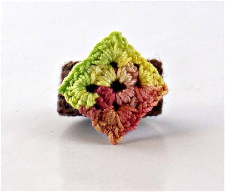 crochet granny square ring