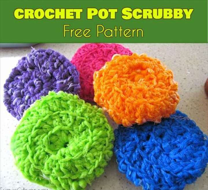 crochet pot scrubby free pattern