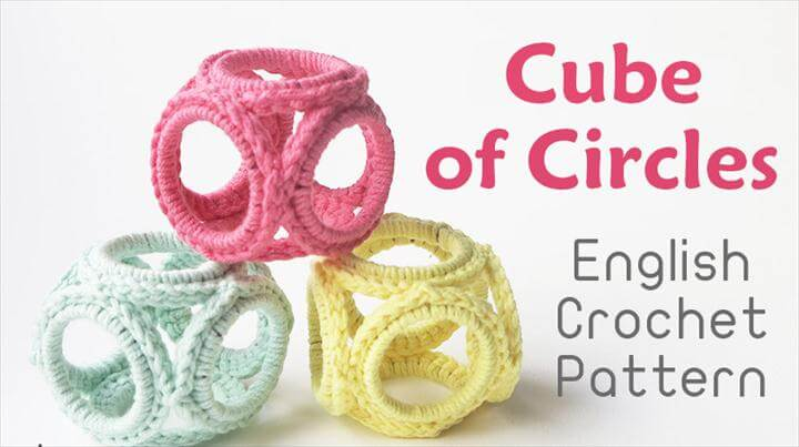 Crochet Cube of Circles