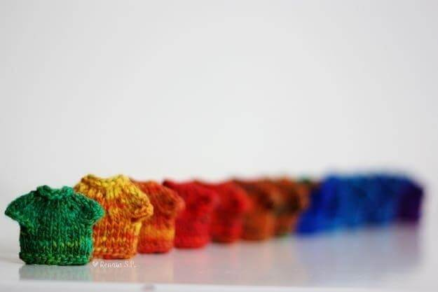 crochet rainbow dresses