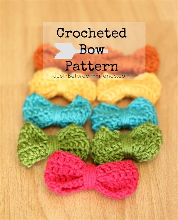 crocheted bow pattern