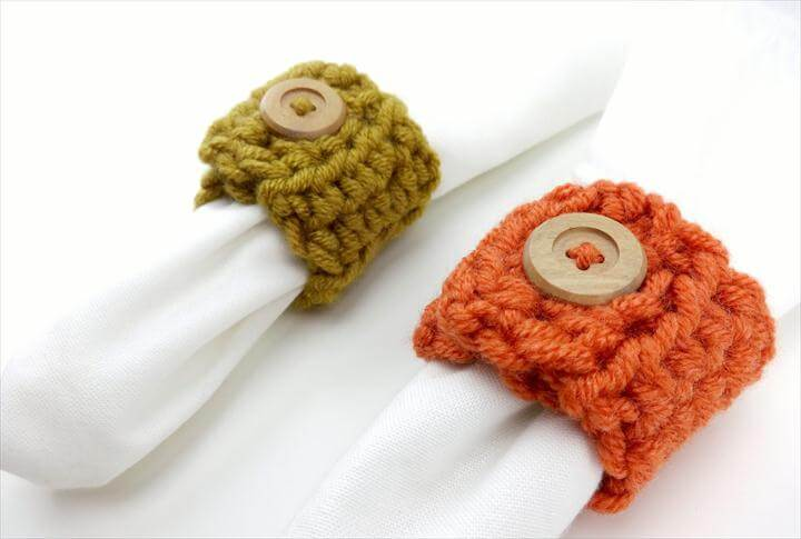 two colors crochet rings
