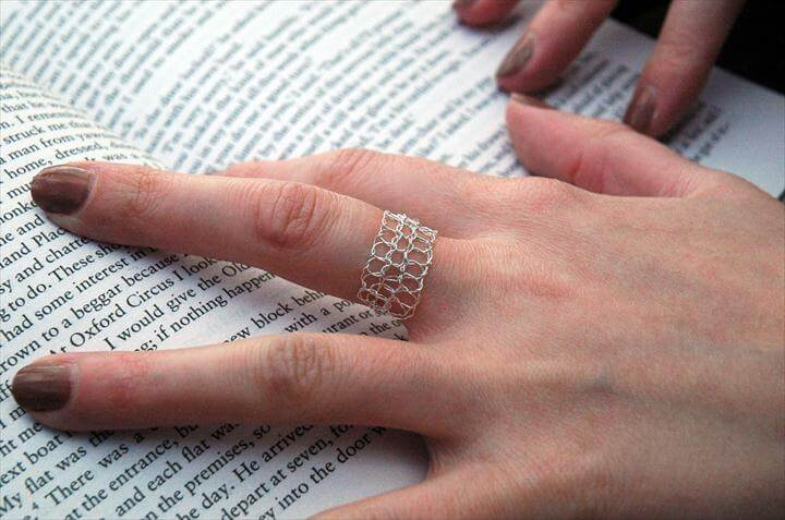 pretty crochet ring