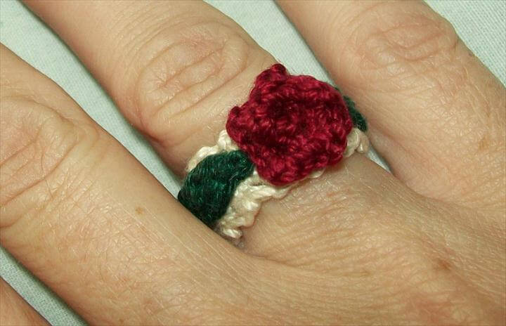 Thread Rose Ring