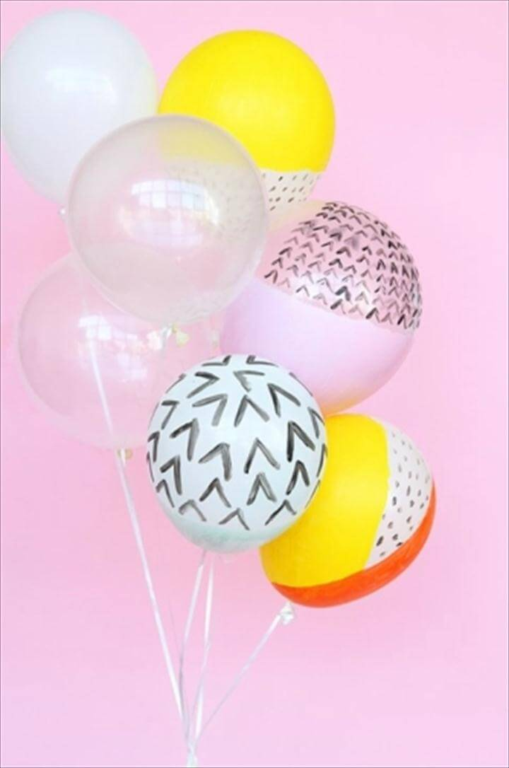 diy summer balloons
