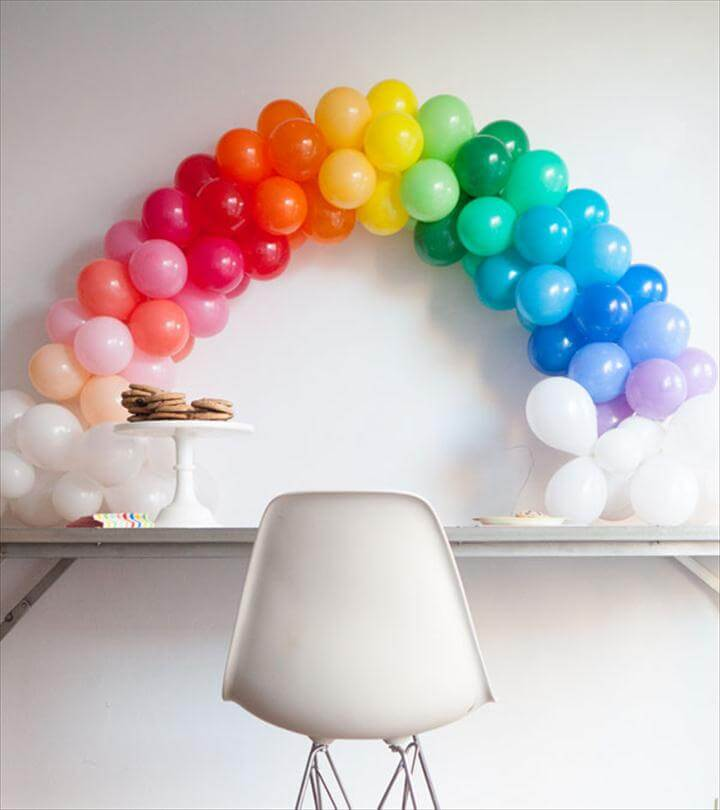 Mini Rainbow Balloon Arch DI