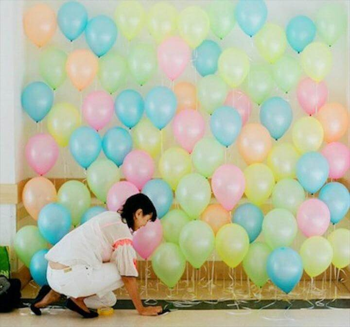 stunning balloon backdrop