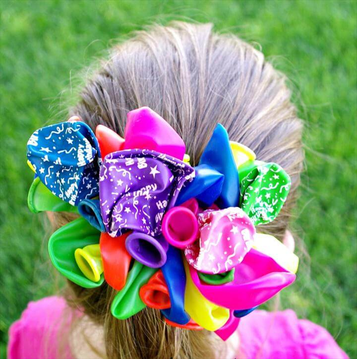 Kids Craft DIY Balloon Barrettes - A Thrifty Mom - Recipes, Crafts, DIY and more