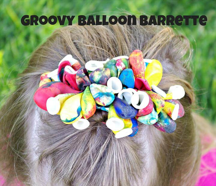 Kids Crafts, DIY Balloon Barrettes, Money Saving Crafts, Inexpensive Birthday Gift Ideas