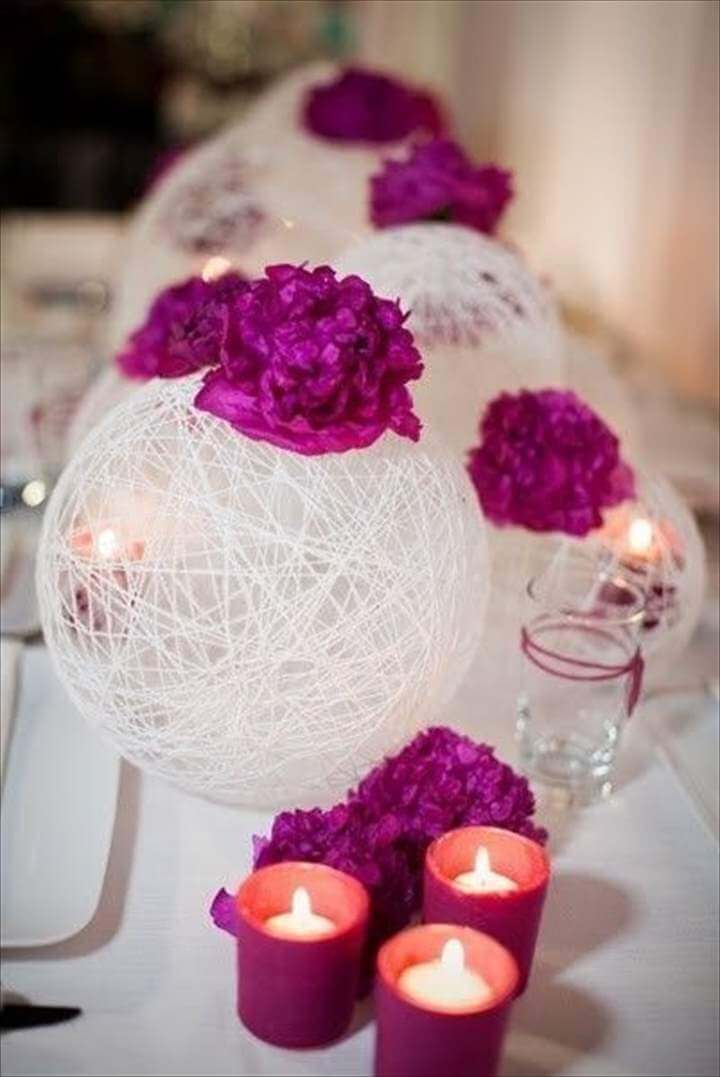 balloon crafts and ideas, simple, elegant centerpieces.