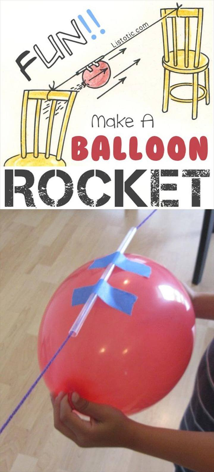 DIY Balloon Rocke
