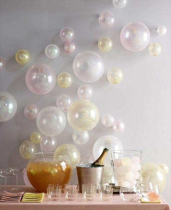 Wall Decor with balloons in Different Sizes