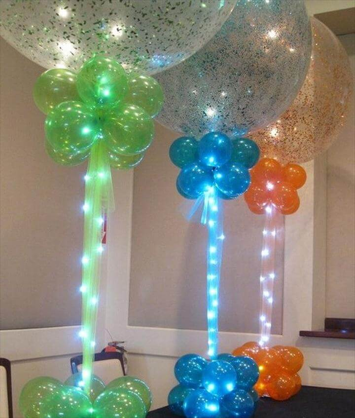 Sparkle Balloons with Rice Lights