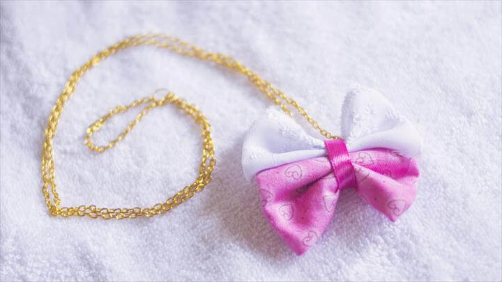 diy small gift - diy bow necklace