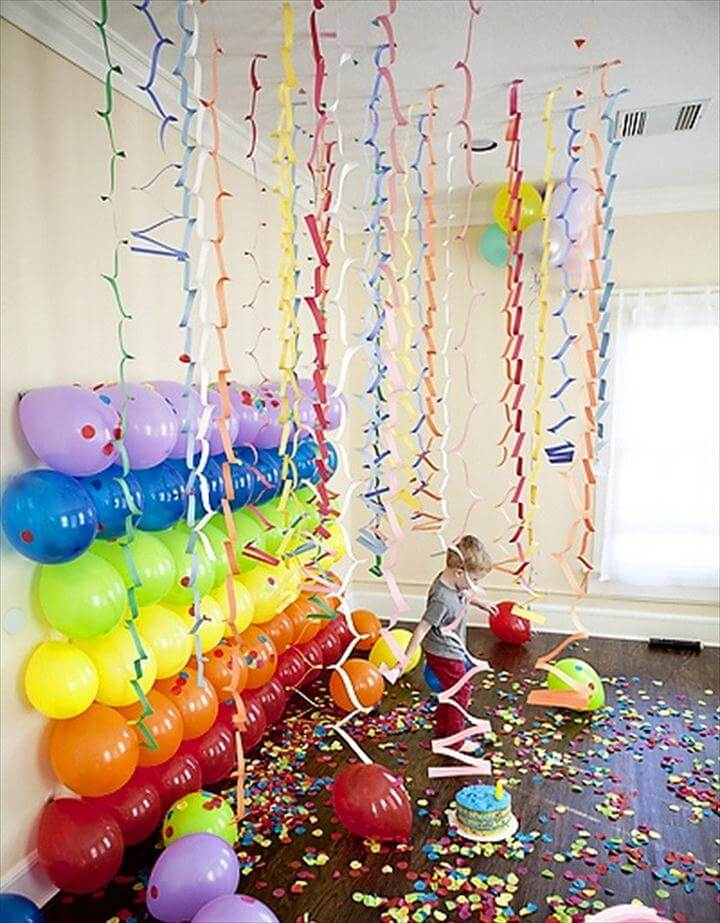 Multi-colored Balloon Backdrop