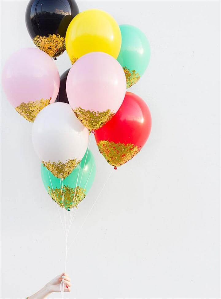 Confetti-Dipped Balloons