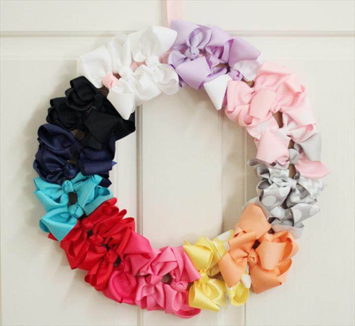bow door wreath