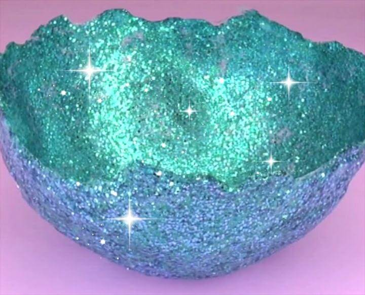 glitter bowl