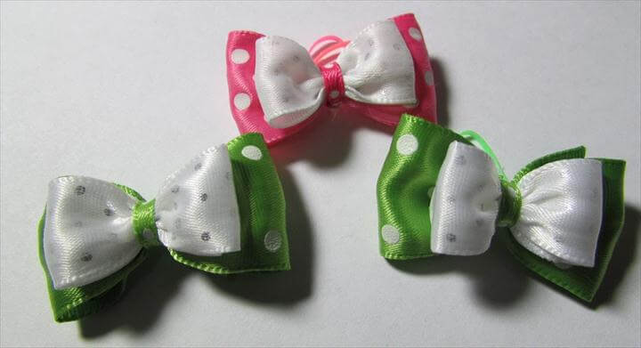 DIY- Dog Hair Bows, Simple hair bows for dogs, Tuxedo Hair Bows