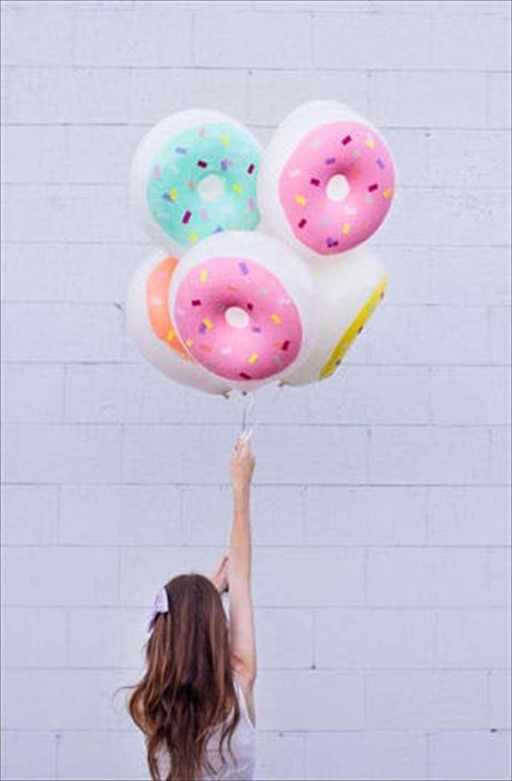 DIY Donut Balloons: