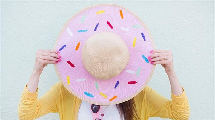 donut hat, floppy hat