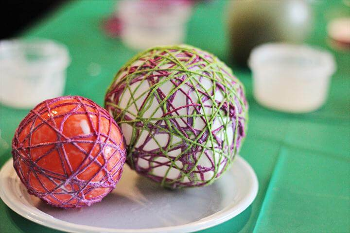 Yarn Easter Eggs Easy Craft Tutorial