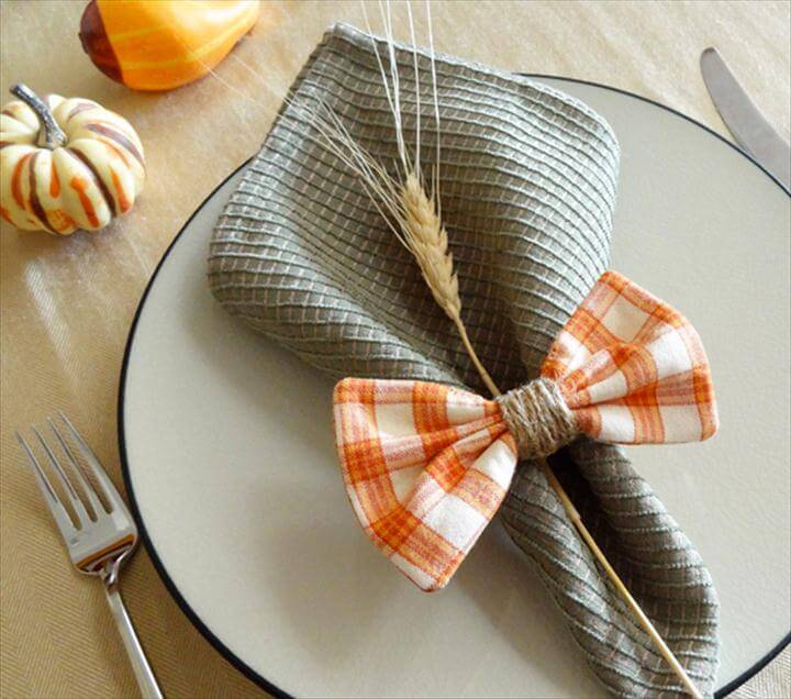 DIY Fabric Bow Napkin Rings