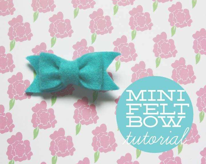 Felt bow tutorial ideas