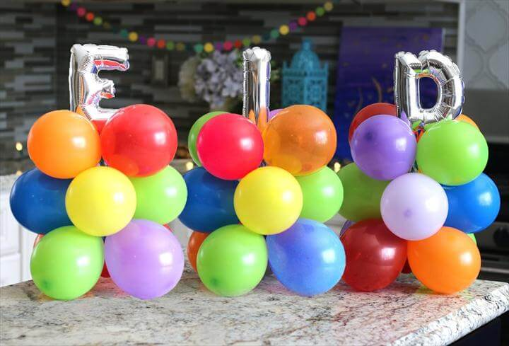 Festive DIY Balloon Column for Eid