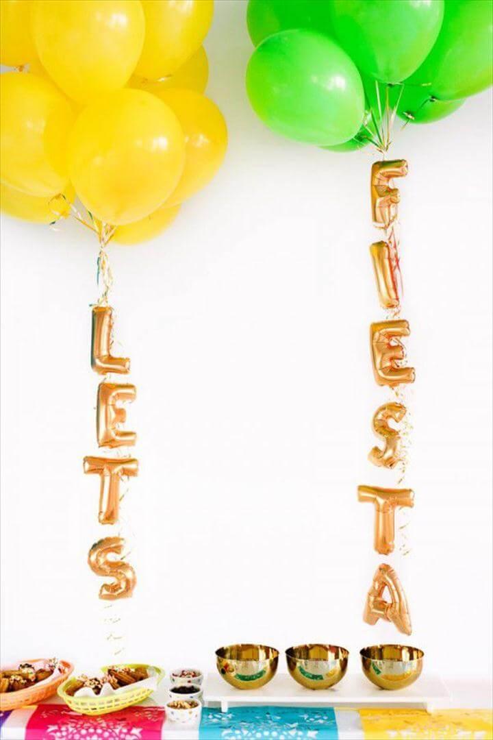 DIY Fiesta Balloons
