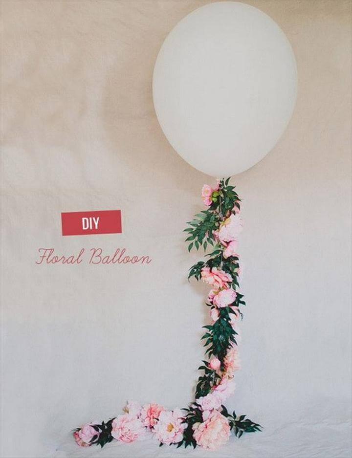 Adorable Floral Balloon Decoration