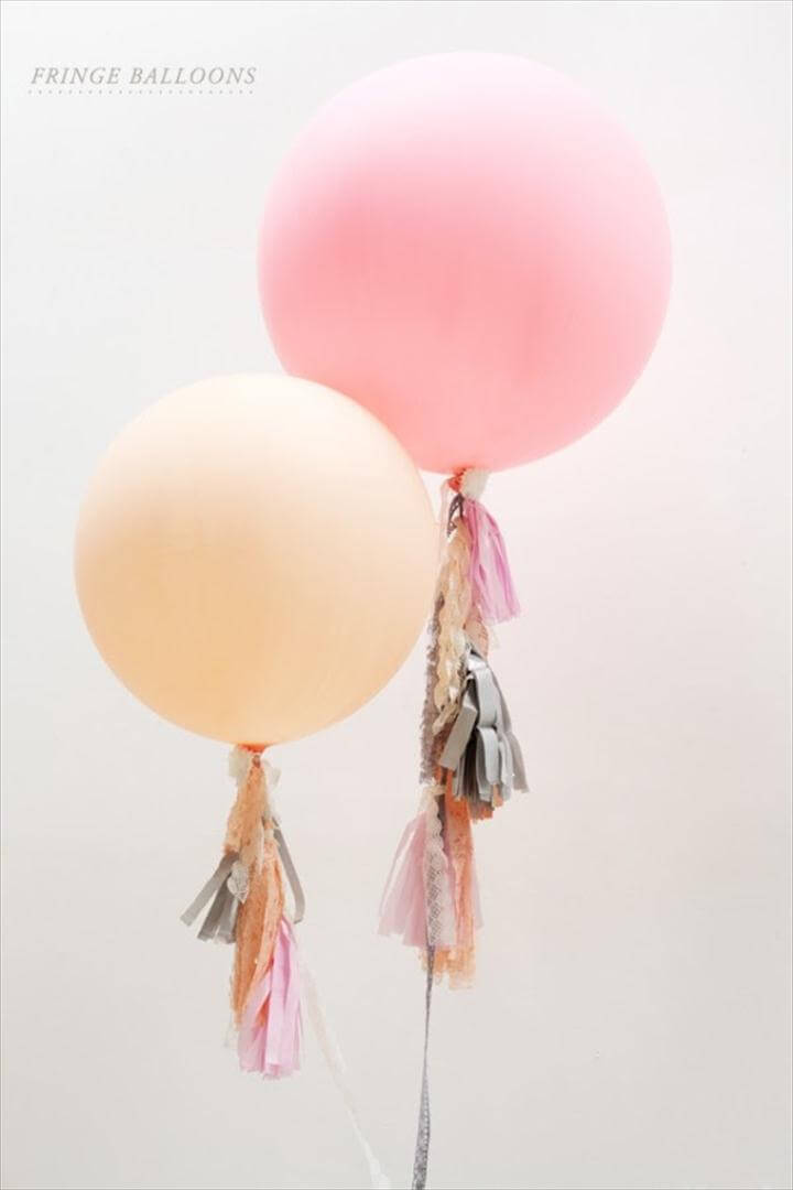 Geronimo Style Big Round Balloons With Streamers