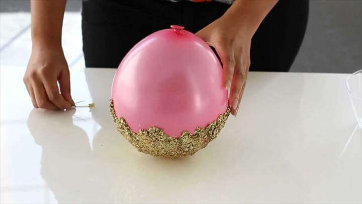 DIY Glitter Accent Bowl -